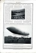1911 THE SPHERE Newspaper MOUNT ETNA Itlay Turkey War ST ANDREWS UNIVERSITY (9060)